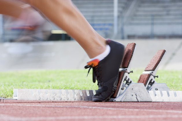 Feet leaving starting blocks
