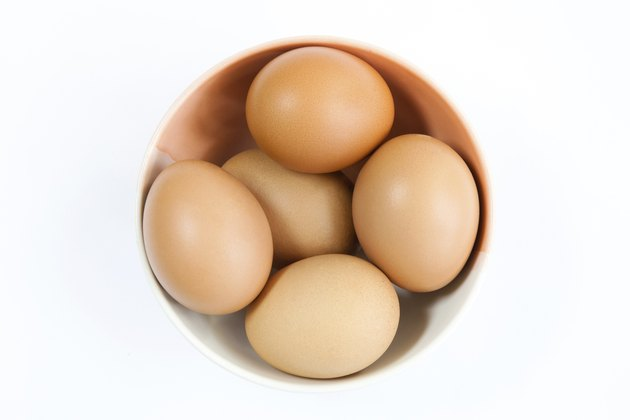 Five Eggs in a bowl Isolated