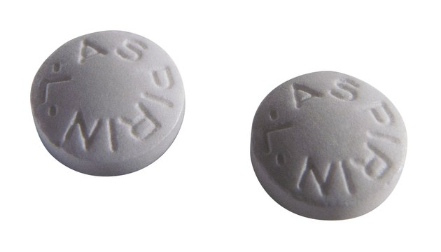 Two aspirin pills Two tablets of aspirin