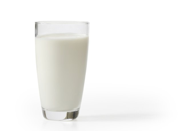 milk in the glass