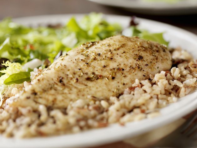 Herbed Chicken Breast with Wild Rice