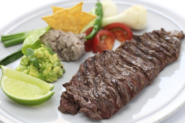 grilled skirt steak, mexican cuisine