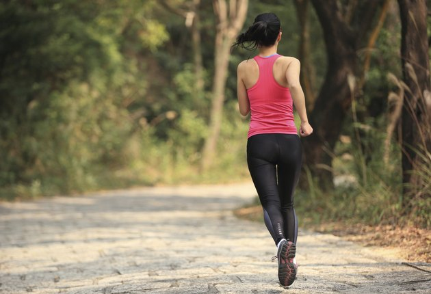 sporty woman jogging outdoor