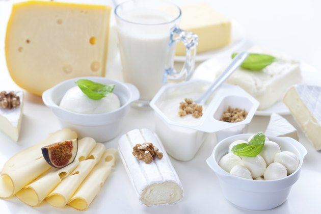 Assortment of different dairy products