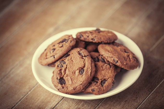 Cookies at wooden background