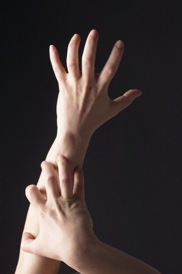 Scratching an arm