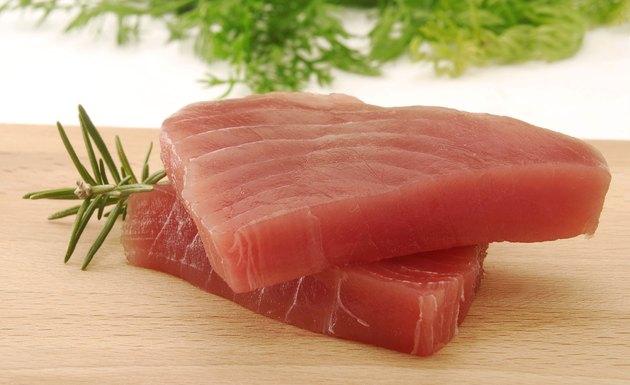 The fresh tuna.