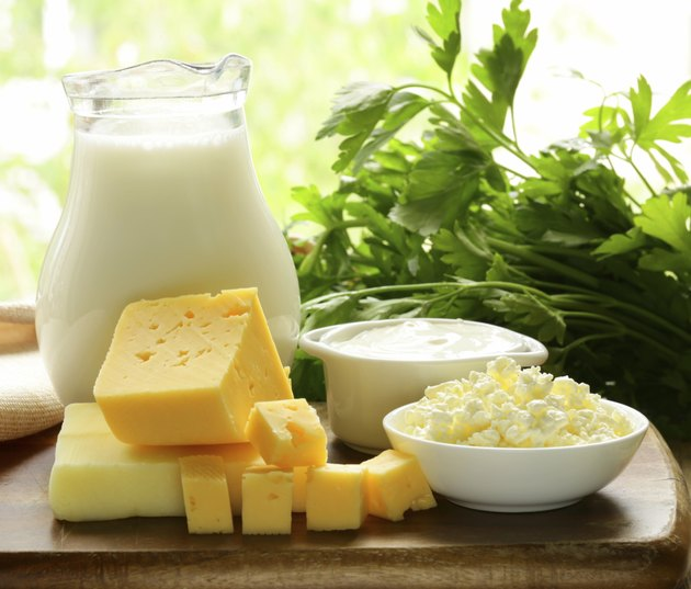 still life of dairy products
