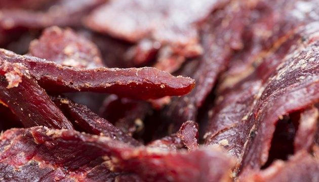Beef Jerky (Macro Shot)