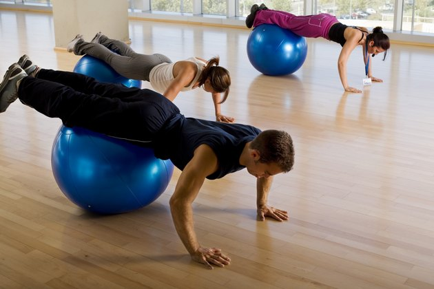 People in fitness class