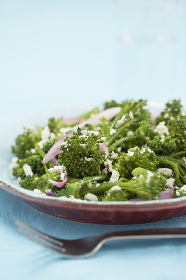 Broccoli with red onion
