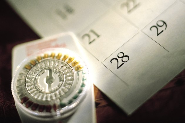 Birth control pills and calendar