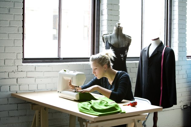 Seamstress altering clothing
