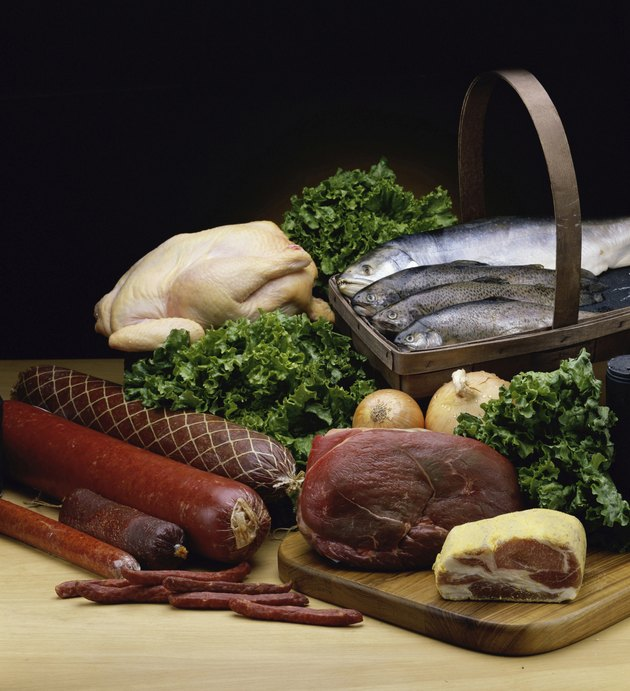 Varieties of assorted meats