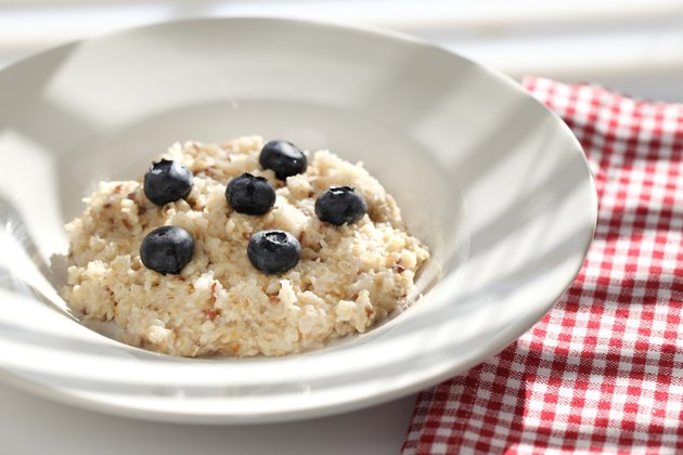Bowl of Oatmeal and Blueberries