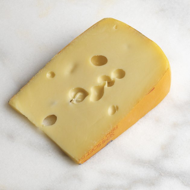Wedge of Swiss cheese