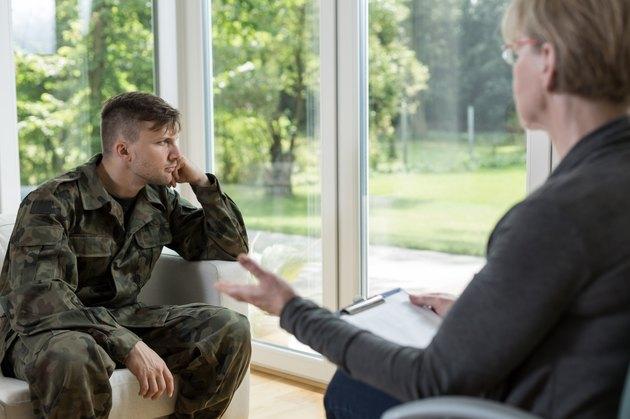 Despair military man