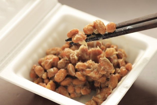 container of natto