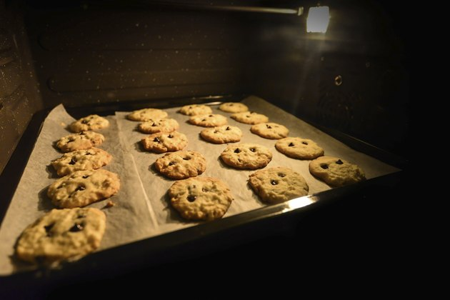 Chocolate Cookie in the Oven