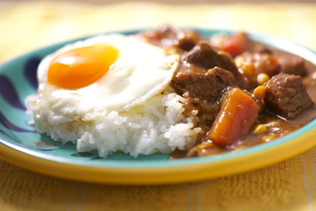 Curry with fried egg