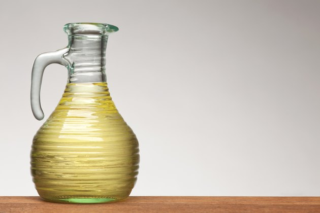 vegetable oil in bottle