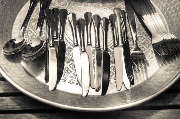 cutlery, silver