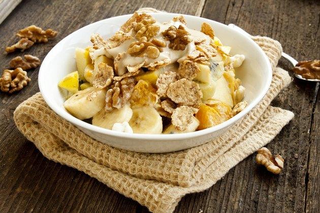 Muesli with fruits,yogurt and nuts