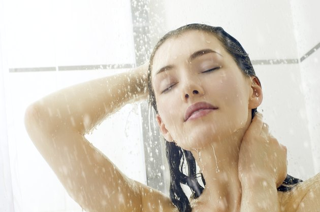 girl at the shower