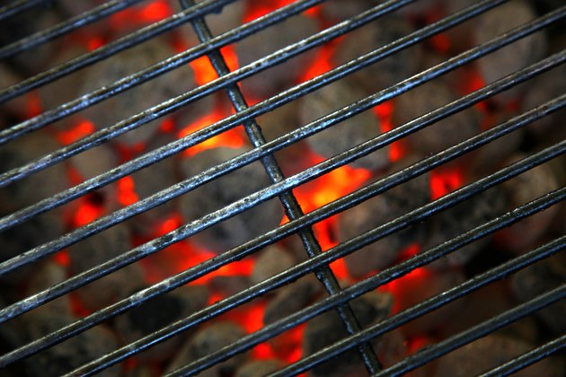 burning hot grill ready for barbecue