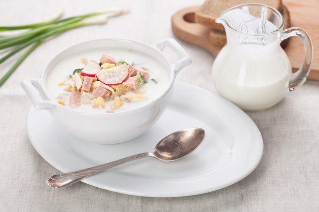 Cold kefir soup