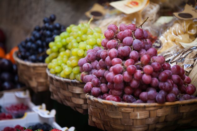 Grapes in the old town of Siena