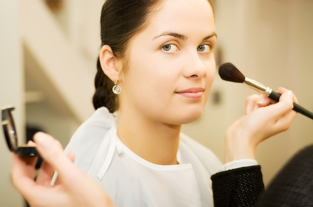 Young woman in the beauty salon (shallow DOF)