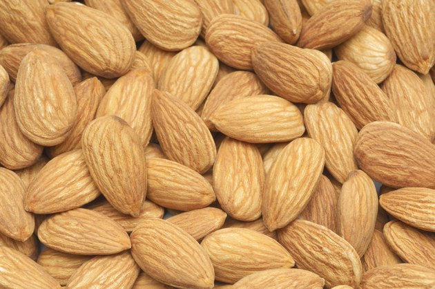 Almonds, close-up