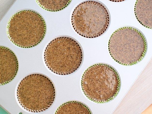 Baking buckwheat muffins