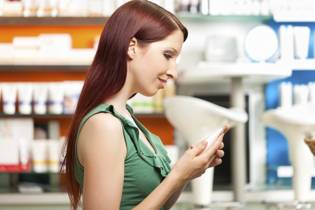 Client in a pharmacy or drugstore shopping