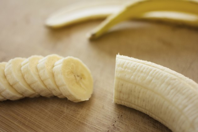 Sliced organic bananas