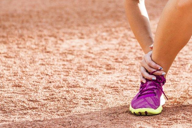 Running sport injury - twisted broken