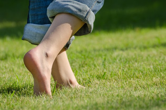 walking on grass