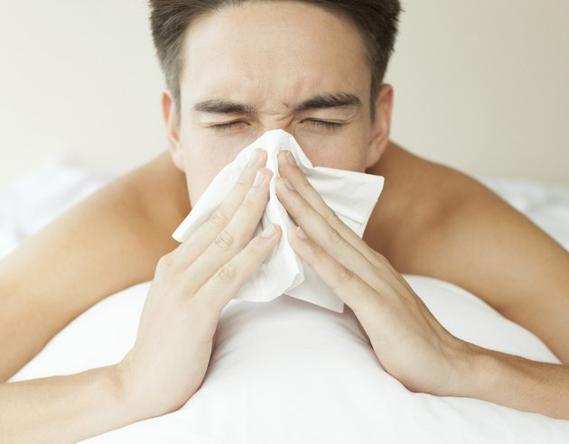 male feeling sick
