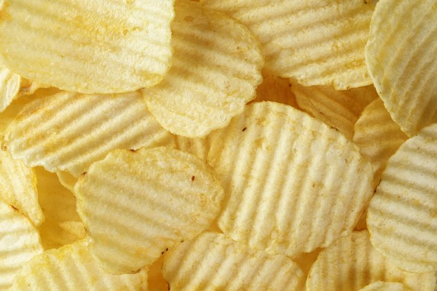 rippled organic potato chips with salt