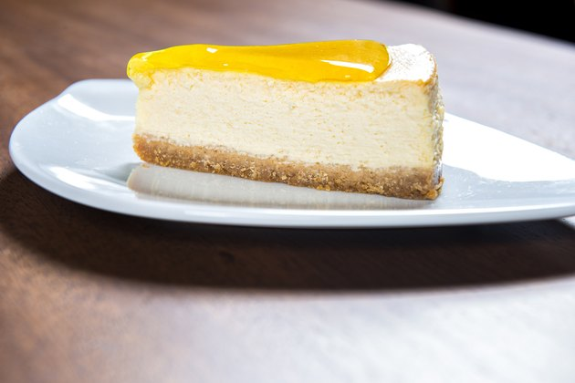 Slice Of Delicious Lemon Cheesecake