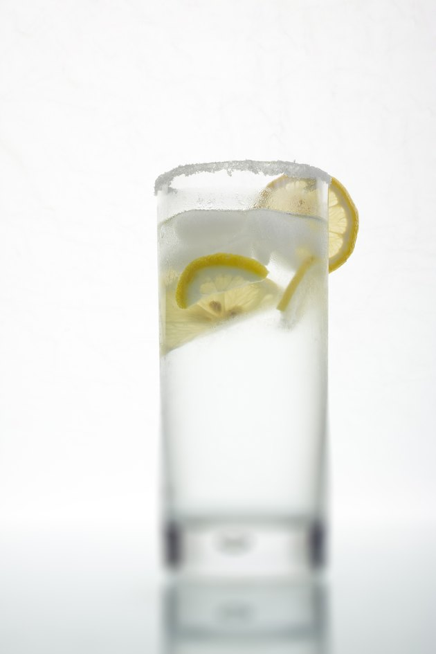 Drink with lemon slice