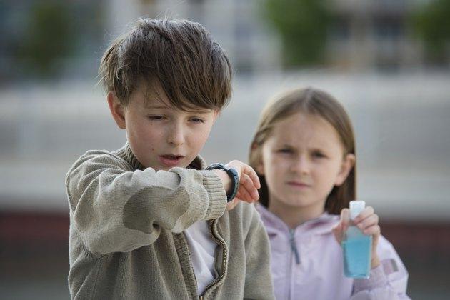 Children Flu Sneeze Elbow Sick
