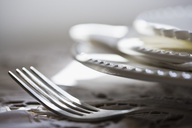 Fork and plates
