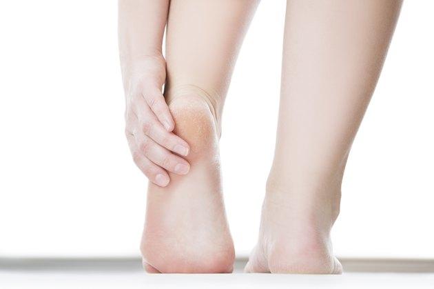 Massage of female foot