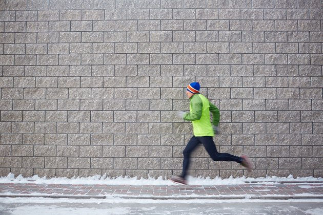 Sportsman running
