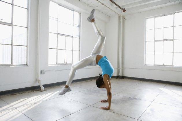 Dancer doing handstand