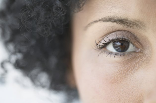 Close-up of a young woman's eye