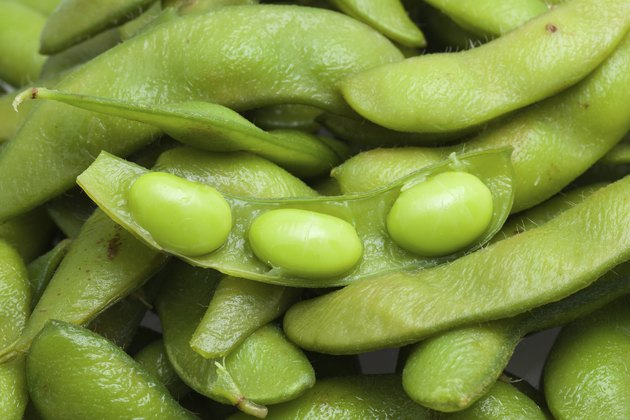 boiled green soy bean japanese food