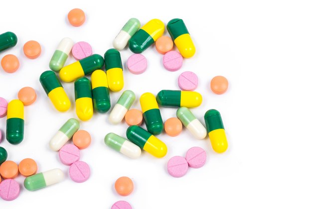 Isolated colorful medicine